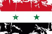Syrian grunge flag. Vector illustration