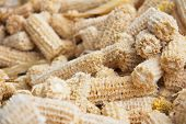 pic of corn cob close-up  - close up of Cob meal Ground corn cob - JPG