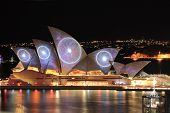 Sydney Opera House With Space And Swirling Imagery