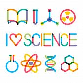 Trendy Multiply Science Icons And Phrase