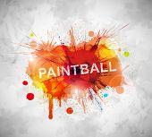 stock photo of paintball  - Colorful paintball banner - JPG
