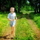 Kid Running Outdoor