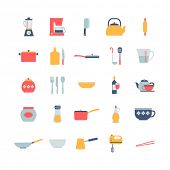 set of cooking icons