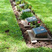 The Kanchanaburi War Cemetery, Thailand