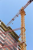 Modern Construction Site With Tower Crane