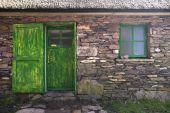 Historic Cottage Door And Window poster