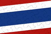 Thailand Nation Flag Jigsaw Puzzle