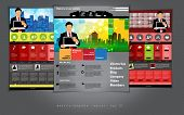 Business website template, vector