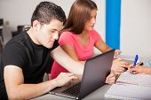 Students Using Technology In Class