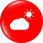 Weather App Web Icon Isolated On White Background