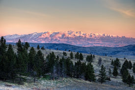 pic of loco  - A beautiful sunrise on the Crazy Mountains of Montana - JPG