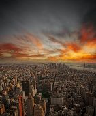 Sunset Over Nyc.