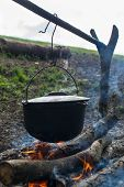 Cauldron On The Open Fire