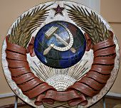 State Ussr Emblem Made From Precious Stones