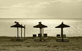 Three parasols beach