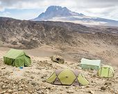 picture of kilimanjaro  - Camping under Mawenzi peak - JPG