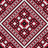 Traditional Slavic black and red stitch