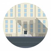 Flat vector icon for building