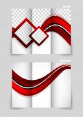 Tri-fold brochure abstract design