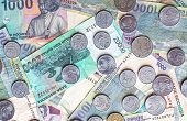 Money From Indonesia, Rupiah Banknotes And Coins.
