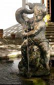 Cherub statue with fountain