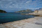 Empty Sant Elm harbor