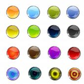 Vector Glossy Web Icon Button