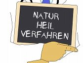 Illustration: Doctor Shows Information: Naturopathic Medicine In German