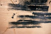 Abstract Smeared Black Paint Art Background