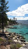Lake Tahoe Shoreline Near Incline Village.