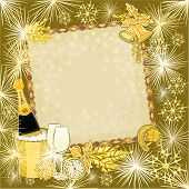 Happy New Year In Gold Vector