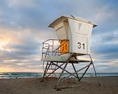 San Diego California USA beach lifeguard house