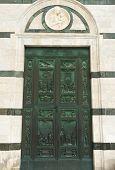 Main Portal Of Siena Cathedral - Big Bronze Door