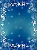 Snowflakes Frame Background