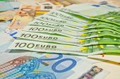 A Lot Of Euro Banknotes - Large Sum Of Money