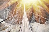 image of suspension  - Trift Bridge - JPG