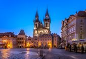 Church of Our Lady of Tyn, Prague-before sunrise