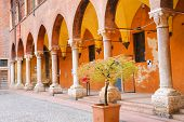 In The Courtyard Of The Palazzo Del Capitano, Piazza Dante, Verona, Italy