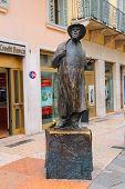 Monument Of Poet Roberto Tiberio Barbarani, Alias Berto Barbarani In Verona, Italy