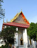 Wat Pho Or Wat Phra Chetuphon ,the Temple Of The Reclining Buddha In Bangkok Of Thailand.