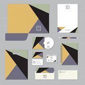 Stationary template design. Corporate identity business set.