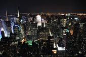 Wide View Of Nyc At Night (from Esb)