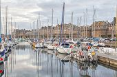 Boats In The Port Of Historical City Saint Malo,  France