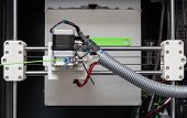 3D Printer With Bright Green Filament