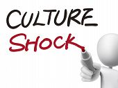 Culture Shock Words Written By 3D Man