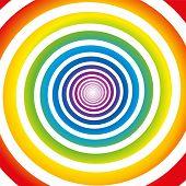 Rainbow Spiral White