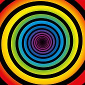 Rainbow Spiral Black