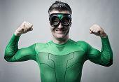 Superhero Showing Biceps