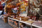 Shoppers Visit The Dry Food Shop In Hong Kong