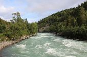 The Sjoa river near the Sjoa kayak camp. Norway.